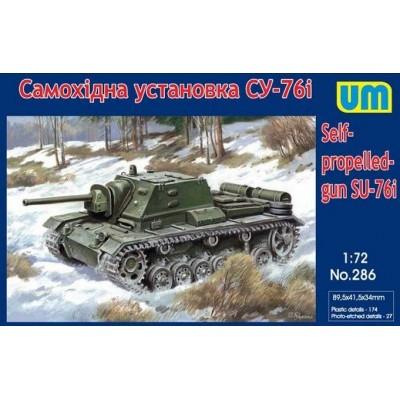 CAÑON DE ASALTO SU-76 I -1/72- UNIMODELS 286
