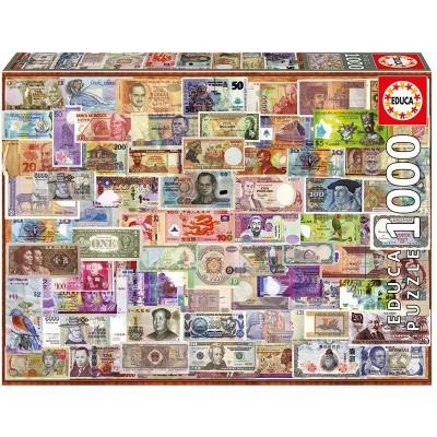 PUZZLE 1000 Pzas BILLETES DEL MUNDO - Educa 17659