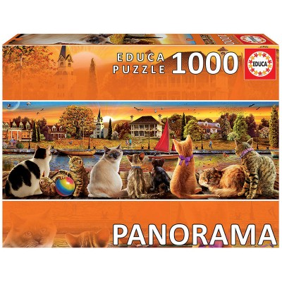 PUZZLE 1000 PZS GATOS EN EL EMBARCADERO - EDUCA 18001
