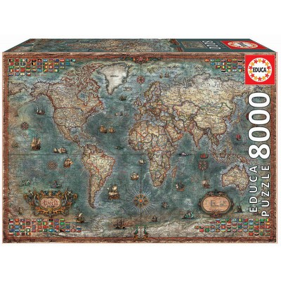 PUZZLE 8000 PZS MAPA HISTORICO - EDUCA 18017