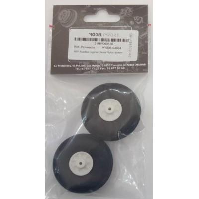 RUEDAS GOMA (44 mm) 2 unidades - HY006-03604