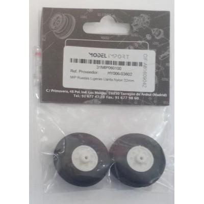 RUEDAS GOMA (32 mm) 2 unidade - HY006-03602
