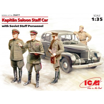 OPEL KAPITAN + OFICIALES SOVIETICOS