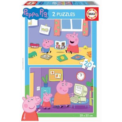 PUZZLE 2 x 20 Pzas PEPPA PIG - Educa 18087