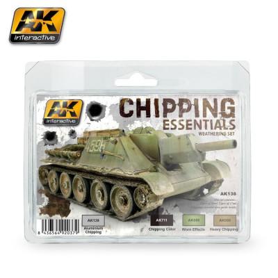 SET CHIPPING ESSENTIALS - AK Interactive AK138