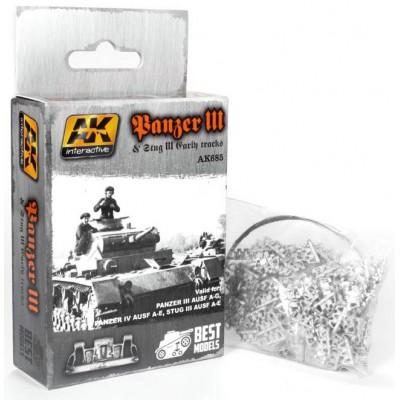 SET ORUGAS STUG III & PANZER III - AK Interactive 685