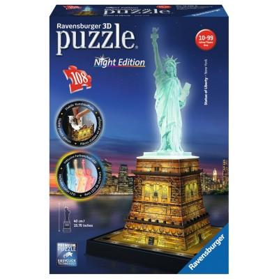 PUZZLE 3D 108 pzas. ESTATUA DE LA LIBERTAD - Night Edition RAVENSBURGER 12596
