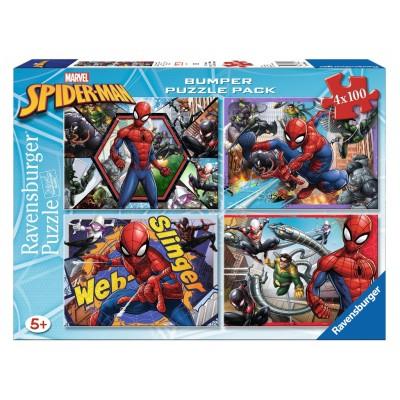 PUZZLES 4x100 PZS SPIDER-MAN - RAVENSBURGER 06914