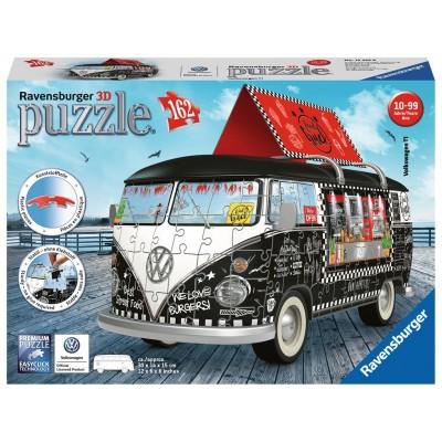 PUZZLE 3D 162 PZS- VOLKSWAGEN T1 FOOD TRUCK - RAVENSBURGER 12525