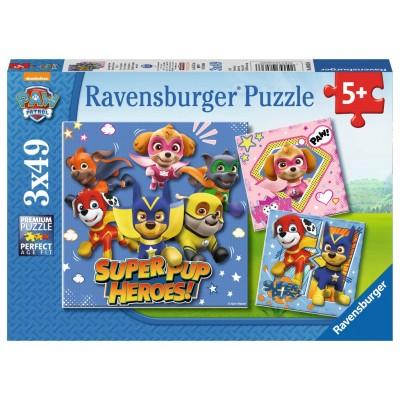 PUZZLES3x49 PZS SUPER MASCOTAS - RAVENSBURGER 08036