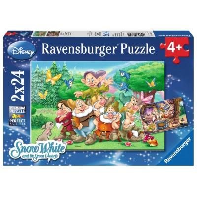 PUZZLES 2x24 PZS LOS 7 ENANITOS - RAVENSBURGER 08859