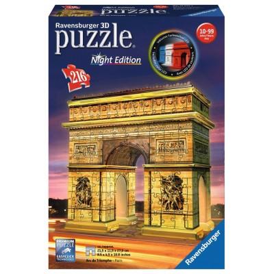 PUZZLE 3D 216 pzas. ARCO DEL TRIUNFO, Paris - RAVENSBURGER 12522