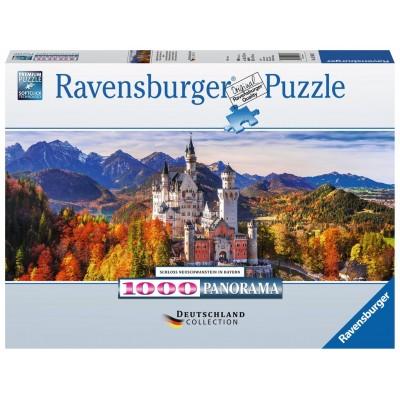 PUZZLE PANORAMA 1000 Pzas CASTILLO DE NEUSCHWANSTEIN, BAVIERA (980 x 375 mm) - Ravensburguer 15161