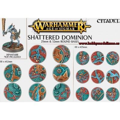 BASES REDONDAS DE 25mm Y 32mm SHATTERED DOMINION - GAMES WORKSHOP 66-96