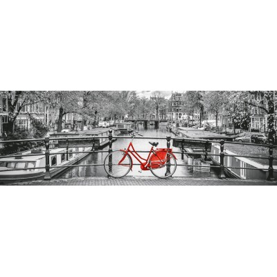 PUZZLE 1000 PZS PANORAMA AMSTERDAM BICYCLE - CLEMENTONI 39440