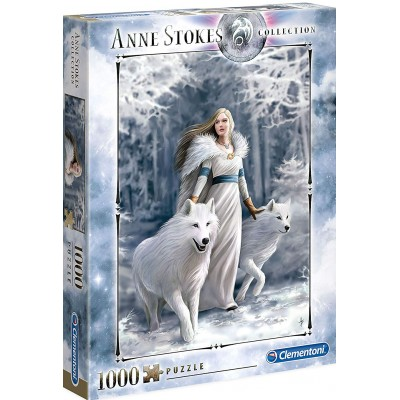 PUZZLE 1000 PZS ANNE STOKES WINTER GUARDIANS - CLEMENTONI 39477