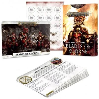 WARSCROLL CARDS CAOS BLADES OF KHORNE EN ESPAÑOL - GAMES WORKSHOP 83-04-03