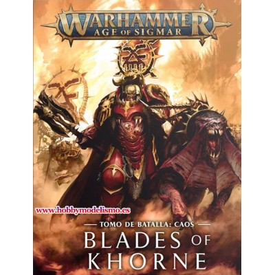 BATTLETOME CAOS BLADES OF KHORNE EN ESPAÑOL - GAMES WORKSHOP 83-01-03