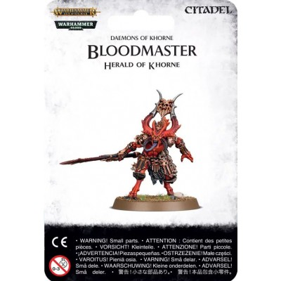 BLOODMASTER HERALD OF KHORNE - GAMES WORKSHOP 97-62