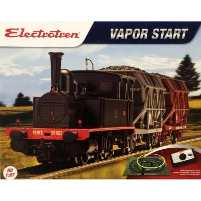 EQUIPO INICIACION VAPOR RENFE MERCANCIAS CARBON- Electrotren E10107