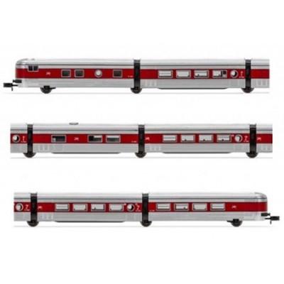 COCHES VIAJEROS TALGO III RENFE (Plata-Rojo) - Arnold HN4270