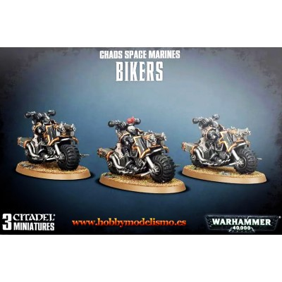 CHAOS SPACE MARINES BIKERS - GAMES WORKSHOP 43-08