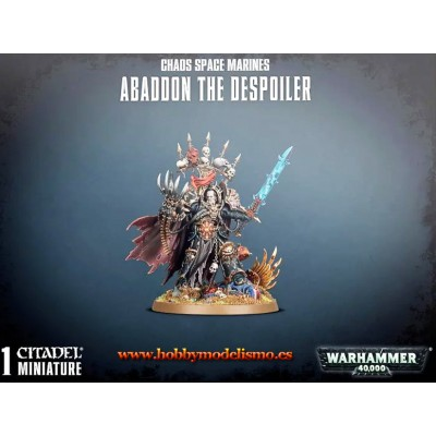 CHAOS SPACE MARINES ABADDON THE DESPOILER - GAMES WORKSHOP 43-60