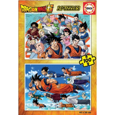 PUZZLE 2 X 100 PZS DRAGON BALL - EDUCA 18214