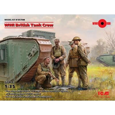 TRIPULACION DE CARROS BRITANICAS (1ª Guerra Mundial) -1/35- ICM 35708