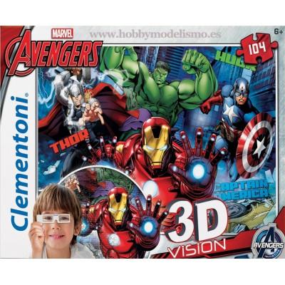 PUZZLE 104 PZS 3D EVENGER INITIA - CLEMENTONI 20606