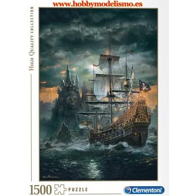 PUZZLE 1500 PZS BARCO PIRATA - CLEMENTONI 31682