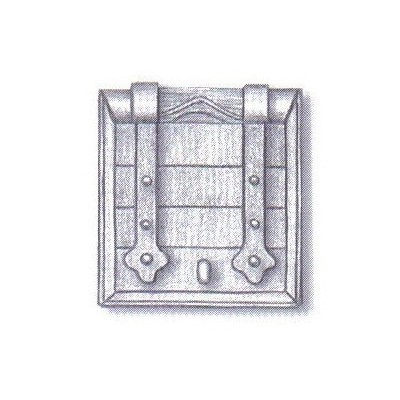 MARCO TRONERA DE CAÑON C/PUERTA (10 x 10 mm) 3 unidades - AMATI 413210