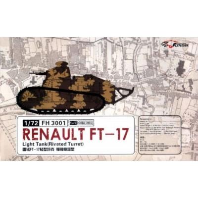 CARRO DE COMBATE RENAULT FT-17 -Berliet- (2 unidades) 1/72 - FlyHawk FH3001