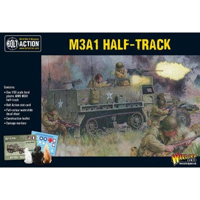 TRANSPORTE DE TROPAS M-3 A1 HALF TRACK -1/56- Warlord Games 402013010