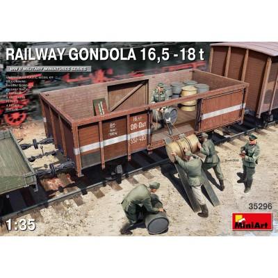 VAGON GONDOLA BORDES ALTOS (16,5 - 18 ton) -1/35- MiniArt 35296