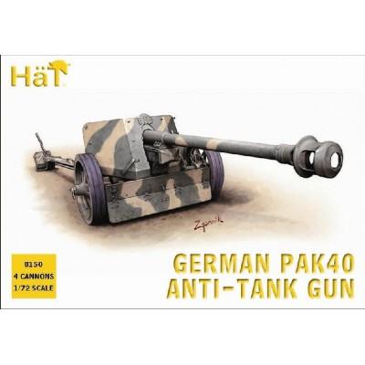 CAÑON PAK-40 (75 mm) & Dotacion (4 unidades) -1/72- Hat 8150