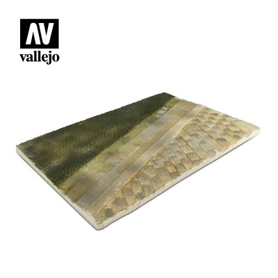 Scenics: BASE CALLE CON ADOQUINES Y ACERA (310 x 210 mm) - 1/35- Acrylicos Vallejo SC101