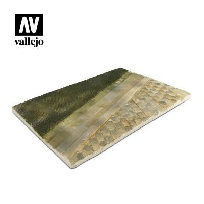 Scenics: BASE CALLE CON ADOQUINES Y ACERA (310 x 210 mm) -1/35- Acrylicos Vallejo SC101