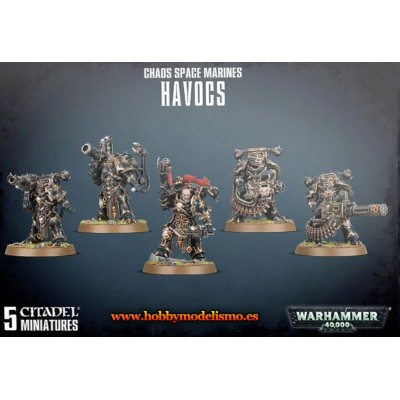 CHAOS SPACE MARINES HAVOCS - GAMES WORKSHOP 43-61