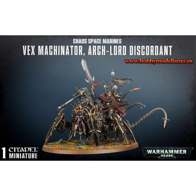 CHAOS SPACE MARINES VEX MACHINATOR - GAMES WORKSHOP 43-59