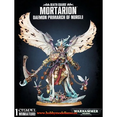 DEATH GUARD MORTARION PRIMARCH OF NURGLE - GAMES WORKSHOP 43-49