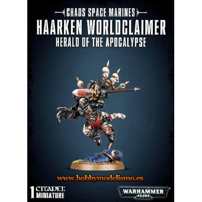 CHAOS SPACE MARINE HAARKEN WORLDCLAIMER - GAMES WORKSHOP 43-23