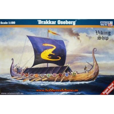 DRAKKAR VIKINGO OSEBERG - ESCALA 1/180 - Mister Craft 042097