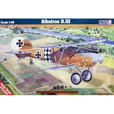 ALBATROS D.III - ESCALA 1/48 - mister craft 042325