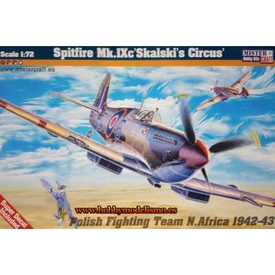 SUPERMARINE SPITFIRE MK.IXc SKALASKIS CIRCUS - ESCALA 1/72 - mister craft 041700