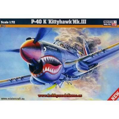 CURTISS P-40K KITTYHAWK MK.III - ESCALA 1/72 - mister craft 042202