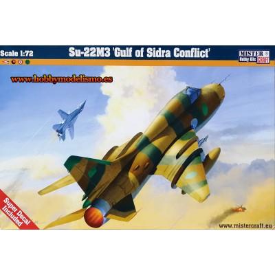 SUKHOI SU-22M3 GOLFO DE SIDRA - ESCALA 1/72 - MISTER CRAFT 040147