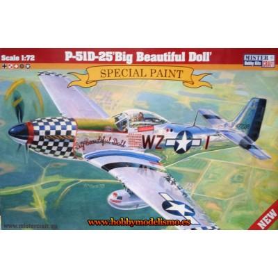 NORTH AMERICAN P-51 D-25 BIG BEAUTIFUL DOLL - ESCALA 1/72 - MISTER CRAFT 042707