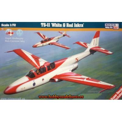 PZL TS-11 Iskra -White & Red- ESCALA 1/72 - Mister Craft 003022