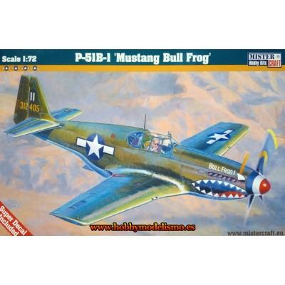 NORTH AMERICAN P-51 B-1 MUSTANG BULL FROG - ESCALA 1/72 - MISTER CRAFT 030469